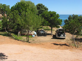 Campground in Korsika